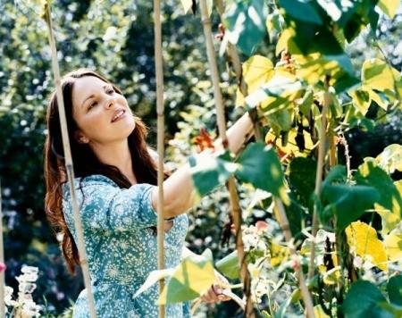 Woman Tending her Vegetable Garden