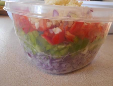 bowl of cut veggies
