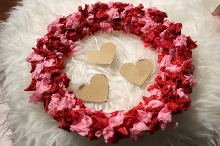 Valentine's Day Tissue Wreath