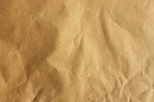 A slightly wrinkled brown paper bag.