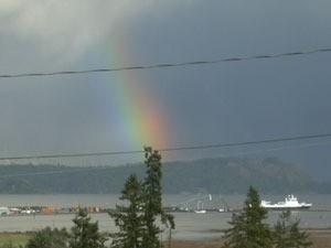 Double Rainbow - Cowichan Bay, BC