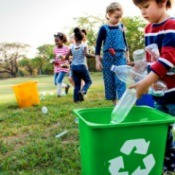 Kids Cleaning up Park