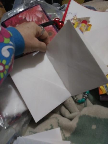 Make a Junk Journal Out of Envelopes - press to stick