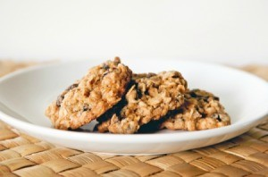 Soft Oatmeal Cookies on a Plate