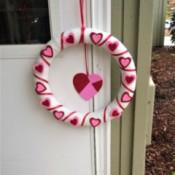 Foam Heart Wreath - finished wreath