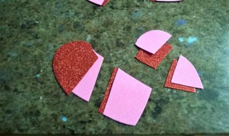 Foam Heart Wreath - matching pieces