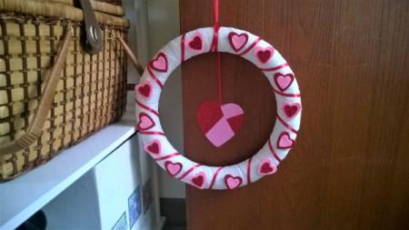 Foam Heart Wreath