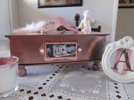 Candy Box Into Treasured Keepsake - view of finished box