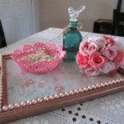 Turning A Picture Frame Into a Display or Serving Tray - finished tray