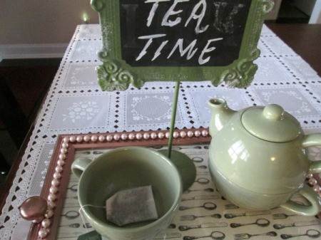 Turning A Picture Frame Into a Display or Serving Tray - using as a tea tray