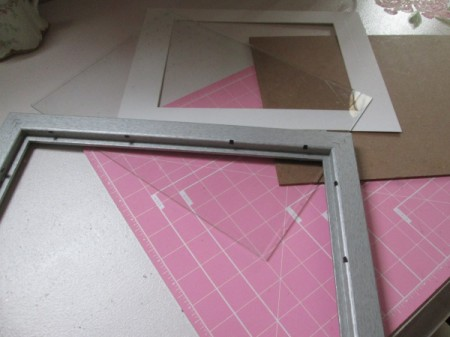 Turning A Picture Frame Into a Display or Serving Tray - remove glass and backing
