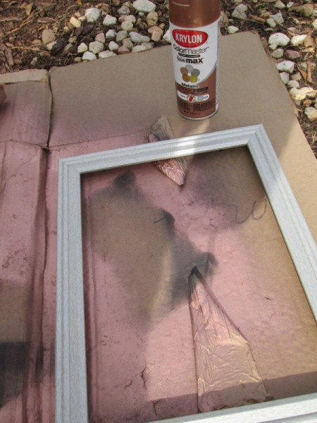 Turning A Picture Frame Into a Display or Serving Tray - paint the frame