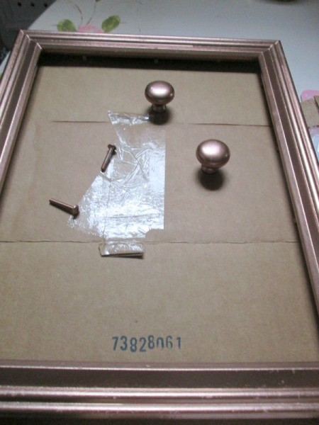 Turning A Picture Frame Into a Display or Serving Tray - painted knobs