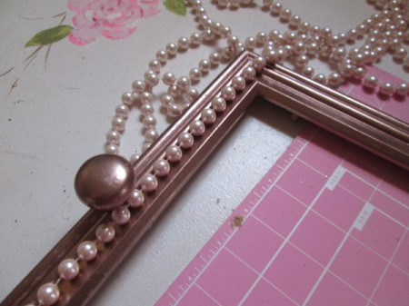 Turning A Picture Frame Into a Display or Serving Tray - adding beads to frame