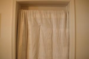 Closet Rod for Hanging Blanket In Doorway - quilt hanging in place