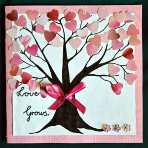 Love Grows Valentine Card - finished card