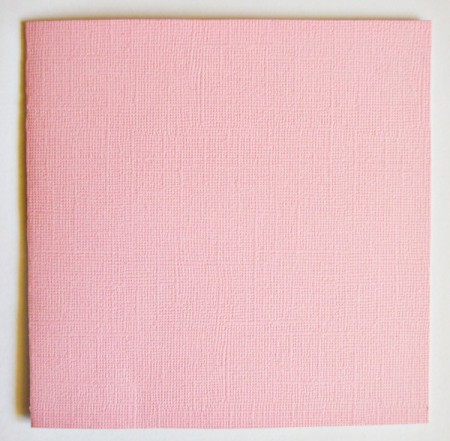 Love Grows Valentine Card - score pink cardstock for card