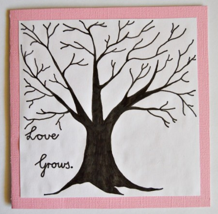 Love Grows Valentine Card - glue to card face