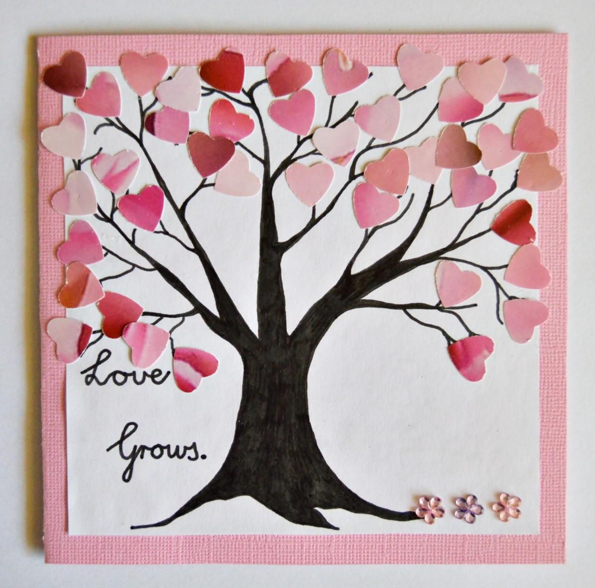 love grows valentine card  thriftyfun