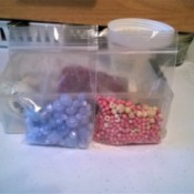 packages of different sized beads.