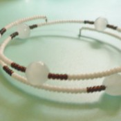 Delicate Memory Wire Beaded Bracelet - finished bracelet