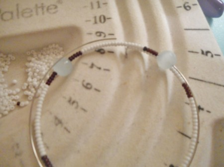 Delicate Memory Wire Beaded Bracelet - add second focal bead