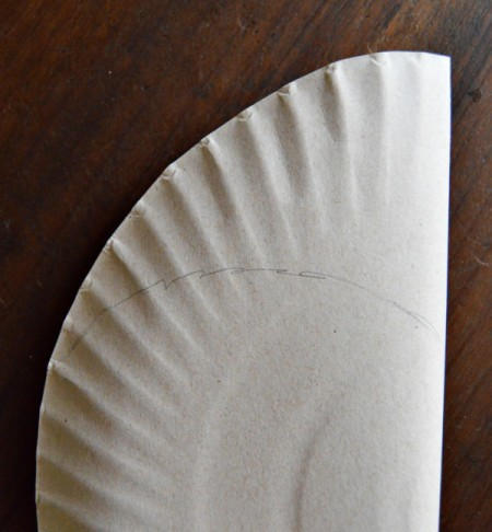 Number 1 Fan Valentine Project - lightly fold the plate in half