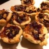 Cranberry Brie Walnut Cups on plate