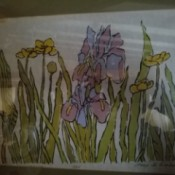 Information and Value of a Mary Jo Gimber Print - print of irises and other flowers