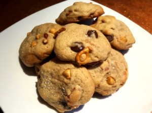 Pretzel Cookies on plate