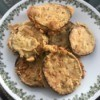 Fried Eggplant Slices on plate