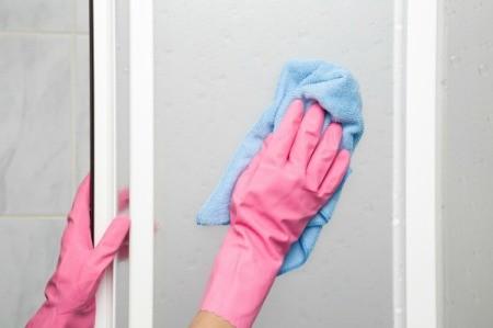 Cleaning Shower Door