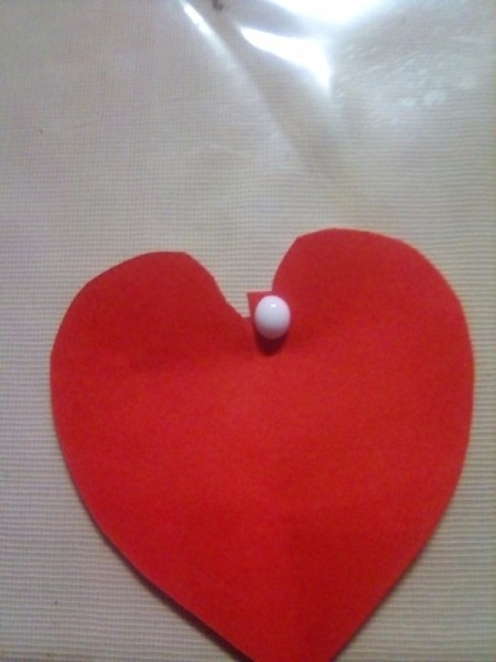 Mini Pop-up Valentine Card - add a drop of glue to the uncut side