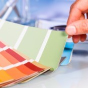 Woman Selecting Paint Color from Sample