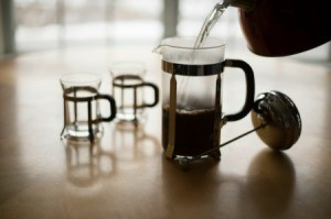 Pouring French Press Coffee