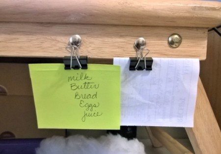 Binder Clips holding Notes