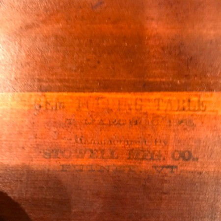Information on a Gem Folding Table
