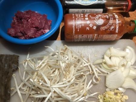 ingredientsin bowl