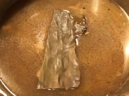 kelp added to pot