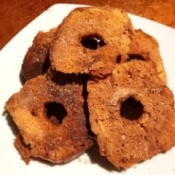Cinnamon Donut Chips - chips on a plate