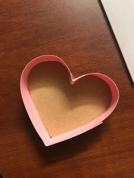 Valentine's Heart Chocolate Candy/Coupon Gift - excess trimmed off
