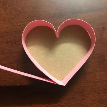 Valentine's Heart Chocolate Candy/Coupon Gift - finished adding strip side