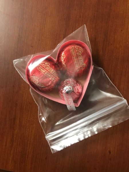 Valentine's Heart Chocolate Candy/Coupon Gift - add candies and place is zipper plastic bag
