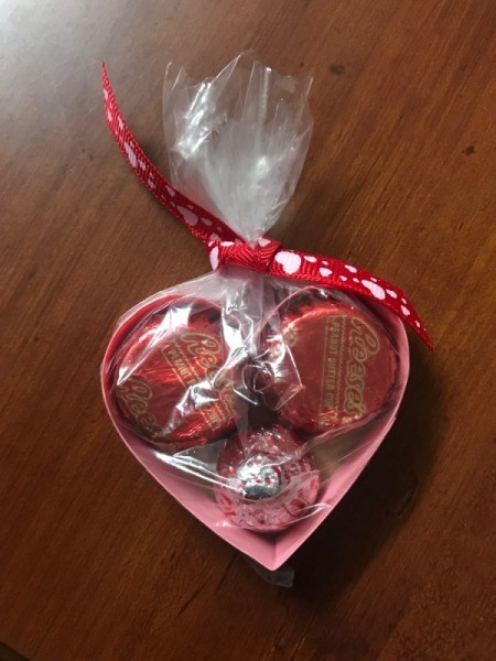 Valentine's Heart Chocolate Candy/Coupon Gift - finished packaged mini heart gift bag
