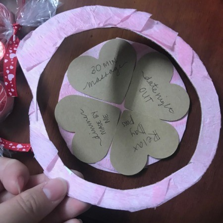 Valentine's Heart Chocolate Candy/Coupon Gift - trim at the edge of the hearts