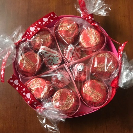 Valentine's Heart Chocolate Candy/Coupon Gift - finished gift