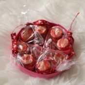 Valentine's Heart Chocolate Candy/Coupon Gift - coupon/candy gift on white background
