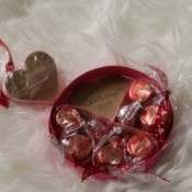 Valentine's Heart Chocolate Candy/Coupon Gift