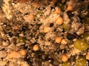 Lentil and Bean Quinoa Salad in bowl