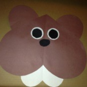 Heart Shaped Paper Groundhog - glue all pieces for final groundhog